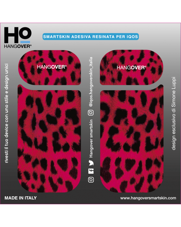 Leopard Ruby - Cover SmartSkin Adesiva in Resina Speciale per Iqos 2.4 e 2.4 plus by Hangover paxckage