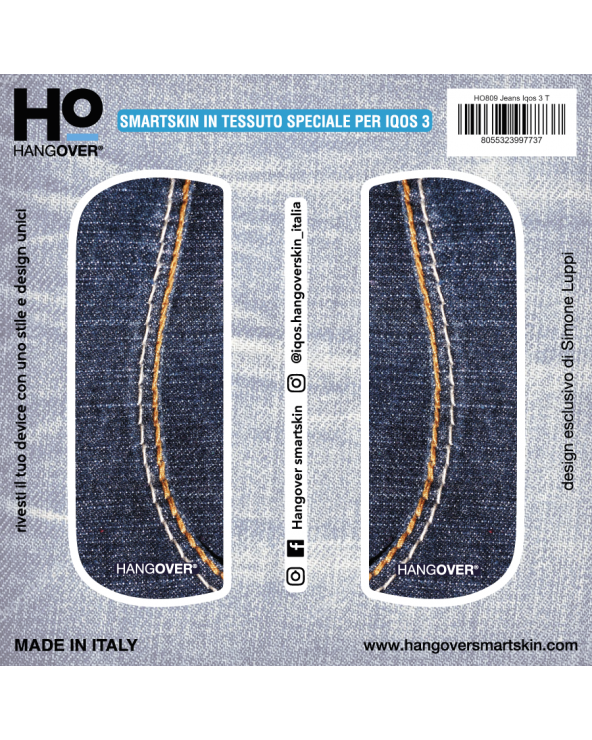 Jeans - Cover SmartSkin in Tessuto Speciale for Iqos 3 by Hangover package