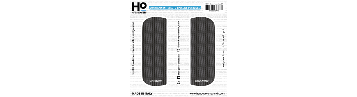 Carbon Look - Cover SmartSkin in Tessuto Speciale per Iqos 3 by Hangover package