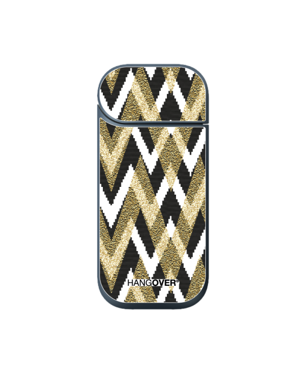 Gold Shapes - Cover SmartSkin in Special Textile for Iqos 2.4 e 2.4+ by Hangover