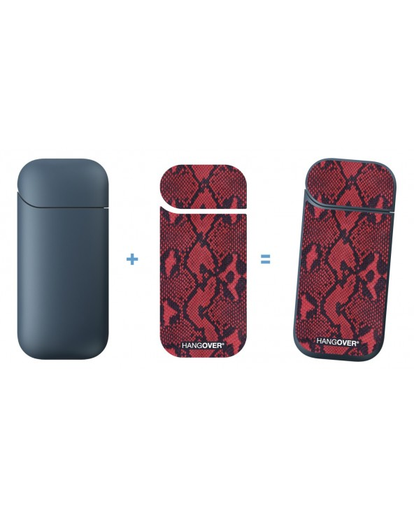 Leather Red - Cover SmartSkin in Tessuto Speciale for Iqos 2.4 e 2.4+ by Hangover