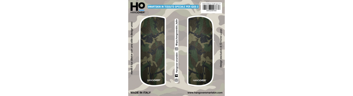 Military Outfit - Cover SmartSkin in Tessuto Speciale for Iqos 3 by Hangover package