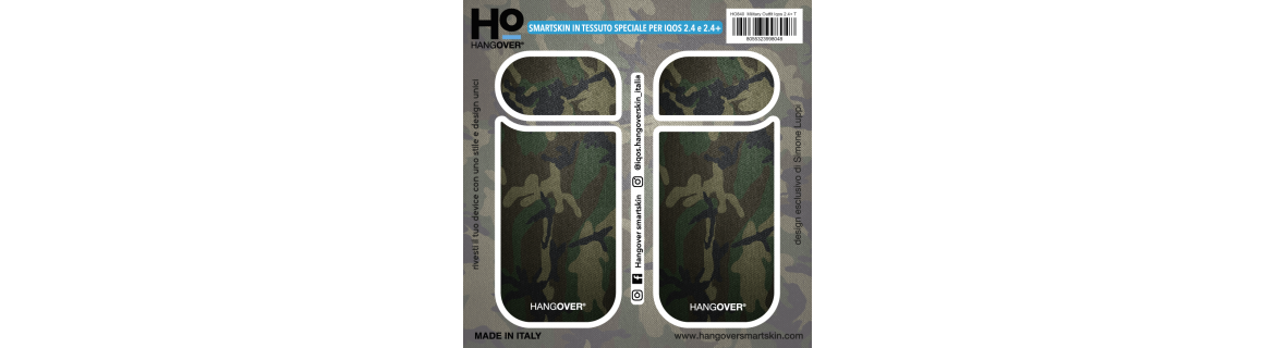 Military Outfit - Cover SmartSkin in Tessuto Speciale per Iqos 2.4 e 2.4 plus by Hangover package