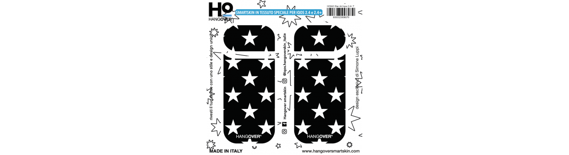 Star Art - Cover SmartSkin in Tessuto Speciale per Iqos 2.4 e 2.4 plus by Hangover package
