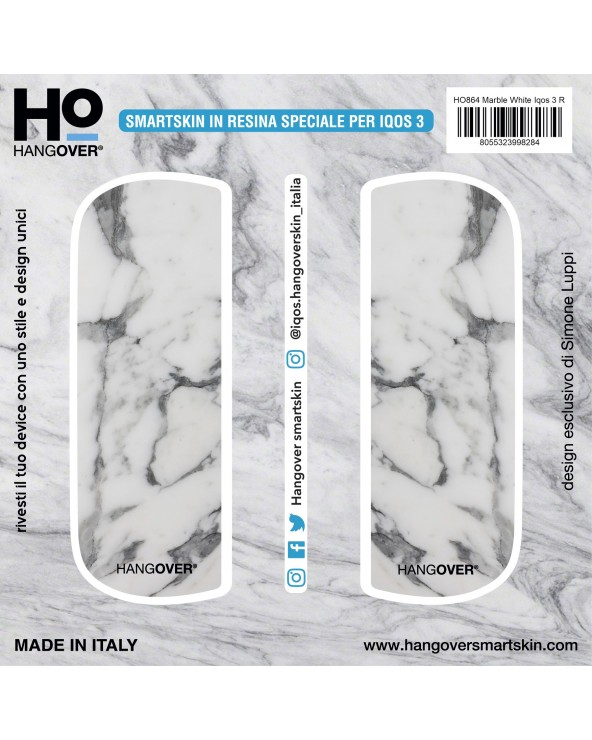 Marble White - SmartSkin in Resina Speciale for Iqos 3 package