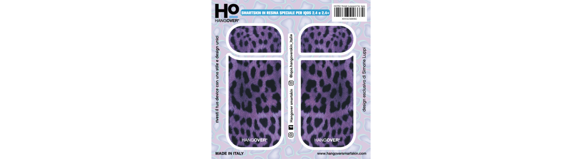 Leopard Violet  - Cover SmartSkin Adesiva in Resina Speciale per Iqos 2.4 e 2.4 plus by Hangover package