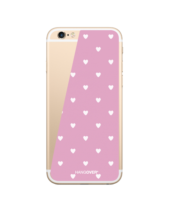 White Hearts for 6, 6S, 7, 8, X, XS